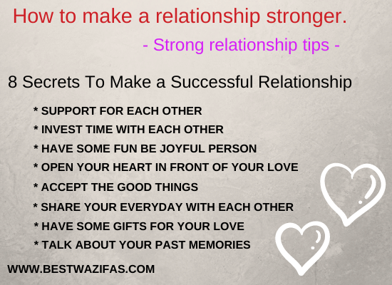 How to make a relationship stronger - Strong relationship tips